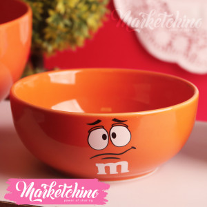 Ceramic Bowl-M&M'S-Orange-Small
