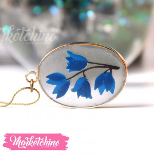 Necklace-Blue Flower