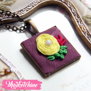 Necklace-Yellow Flower