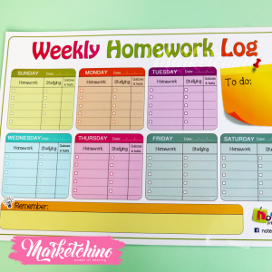 Weekly Homework Log