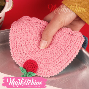 Pot Holders-Crochet-Pink&Trkwaz