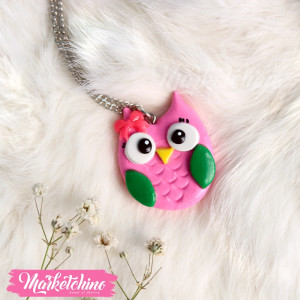 Necklace-Owl-Pink