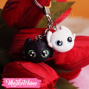 Keychain-Toothless&White Fury