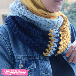 Scarf-Yellow&Gray