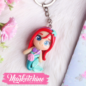 Keychain-Polymer Clay- The Little Mermaid