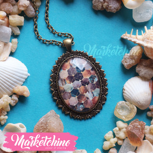 Necklace- Moden beehive pattern
