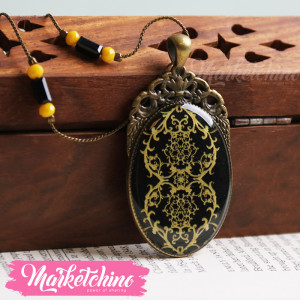 Necklace-Ornamented-Yellow