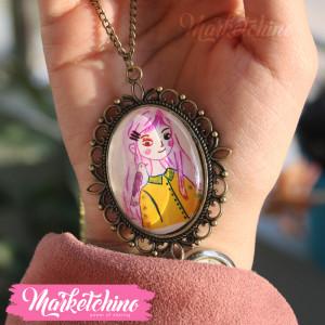 Necklace-Girl&Bird