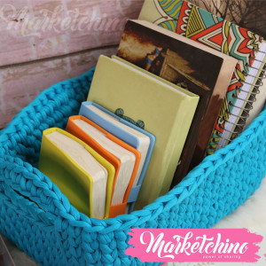 Crochet Basket-Light Blue