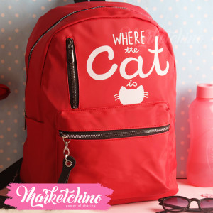 Backpack-Cat-Red