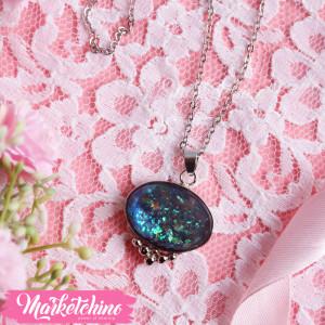 Necklace-Black Opal