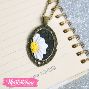 Necklace-White Flower