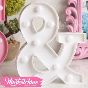 Decorative Letter &-White