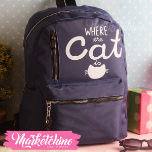 Backpack-Cat-Dark Blue