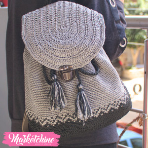 BackPack Crochet-Gray