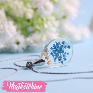 Necklace-Blue Baby Flower