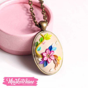 Necklace-Flowers-Beige