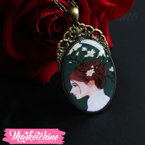 Necklace-Girl-Green