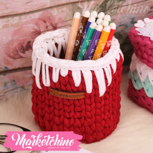 Crochet Basket-Red