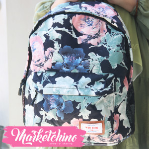 Backpack-Wen Ding-Flower-Black&Olive (original)