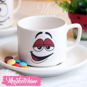 Cup &Plate--M&M'S-Red