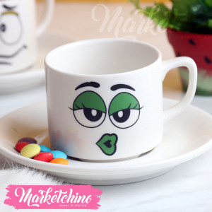 Cup &Plate--M&M'S-Green