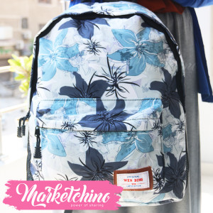 Backpack-Wen Ding-Flower-Light Blue&Gray (original)