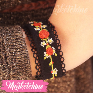 Embroidered Bracelet-Black