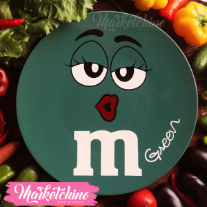 Ceramic Service Plate-M&M'S-Green(Large)