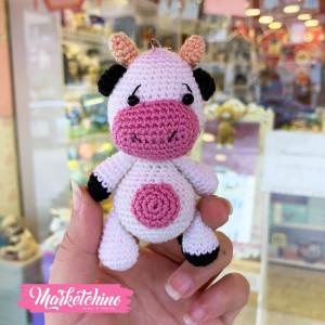Keychain-Crochet-Cow