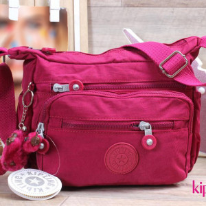 Cross Bag-kipling-Fuchsia