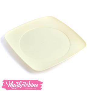 Bager Plastic Service Plate -yellow(Large)