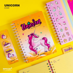 notebook unicorn star