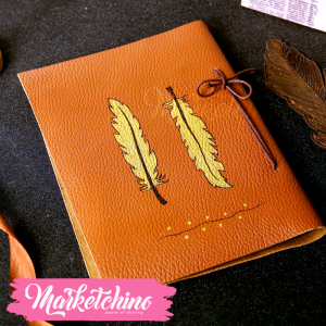 Leather Sketch Book-Feather