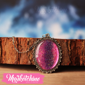 Necklace-Glitter-Purple