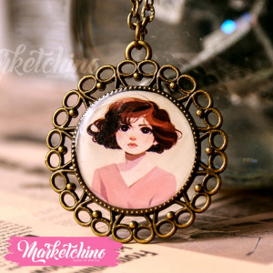 Necklace-Girl In Pink