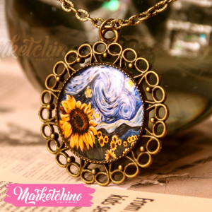 Necklace-Sunflowers