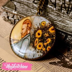 Necklace-Van Gogh&Sunflower