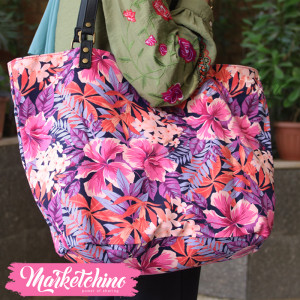 Hand Bag-Purple Flower 2