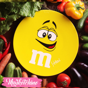 Ceramic Service Plate-M&M'S-Yellow (Small)