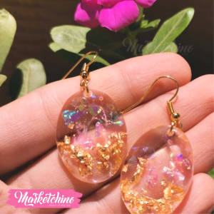 Earring-Pink&Gold