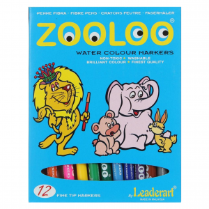 Zooloo Set Of 12 Coloring Pen