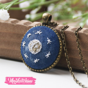 Embroidered Necklace-Space