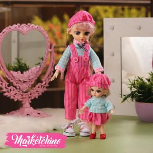 Set Of  2 Doll-Salobet-Pink (30-16 cm )