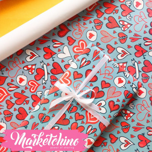 Paper Gift wrapping-Heart 4
