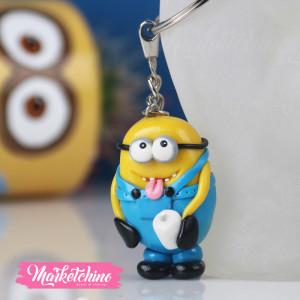 Keychain-Minion With Marshmallow