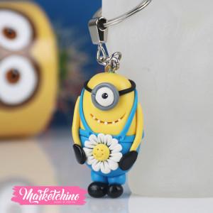 Keychain-Minion With Flower