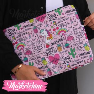 Laptop Sleeve-Unicorn&Flamingo-15.6 Inch