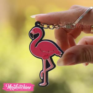 Keychain-Flamingo