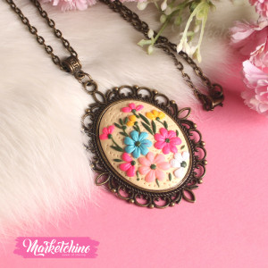 Necklace-Polymer Clay-Colorful Flower